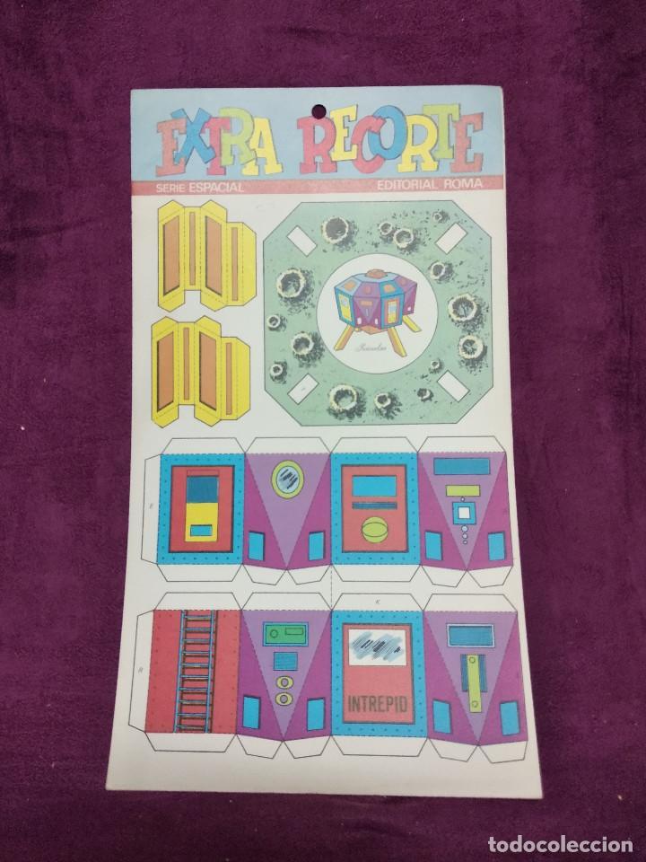 Coleccionismo Recortables: Pliego con recortables de transporte, Intrepid, Serie Espacial, Ed. Roma, 1973, unos 70 x 20 cms. - Foto 5 - 242057690