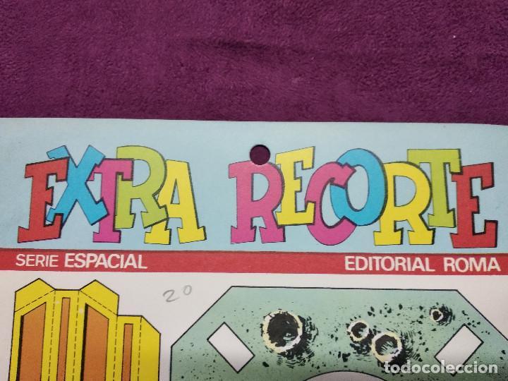 Coleccionismo Recortables: Pliego con recortables de transporte, Intrepid, Serie Espacial, Ed. Roma, 1973, unos 70 x 20 cms. - Foto 6 - 242057690