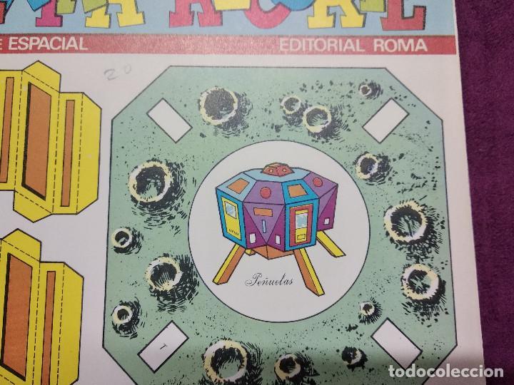 Coleccionismo Recortables: Pliego con recortables de transporte, Intrepid, Serie Espacial, Ed. Roma, 1973, unos 70 x 20 cms. - Foto 7 - 242057690