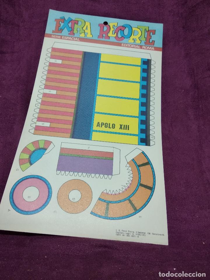 Coleccionismo Recortables: Pliego con recortables de transporte, Apolo XIII, Serie Espacial, Ed. Roma, 1973, unos 70 x 20 cms. - Foto 3 - 242058315