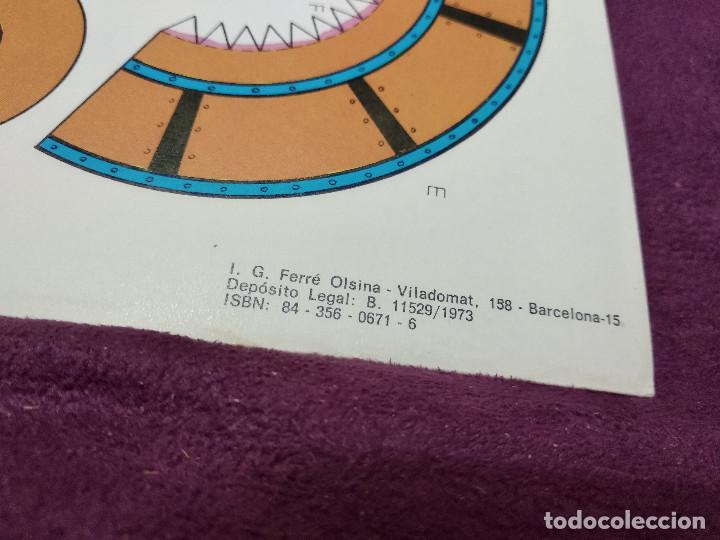 Coleccionismo Recortables: Pliego con recortables de transporte, Apolo XIII, Serie Espacial, Ed. Roma, 1973, unos 70 x 20 cms. - Foto 8 - 242058315