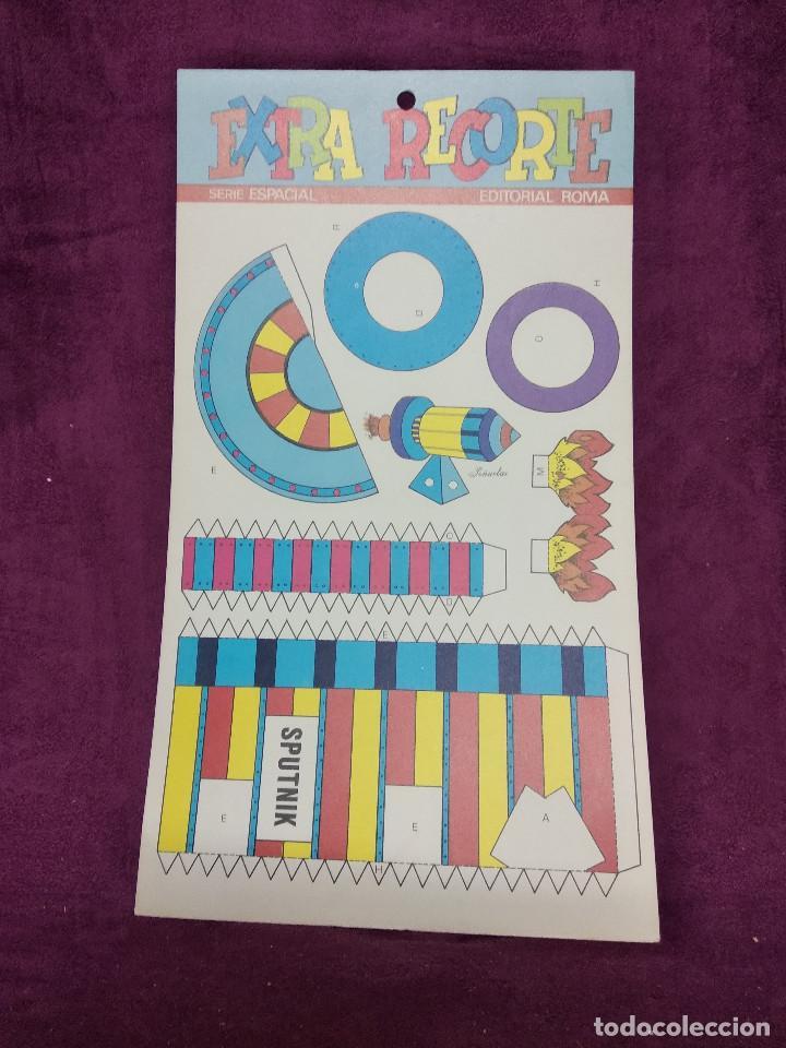 Coleccionismo Recortables: Pliego con recortables de transporte, Sputnik, Serie Espacial, Ed. Roma, 1973, unos 70 x 20 cms. - Foto 4 - 242059775