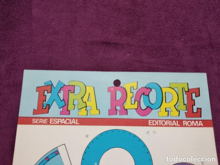Coleccionismo Recortables: Pliego con recortables de transporte, Sputnik, Serie Espacial, Ed. Roma, 1973, unos 70 x 20 cms. - Foto 5 - 242059775