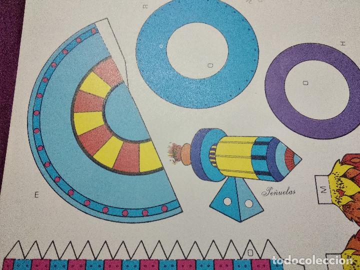 Coleccionismo Recortables: Pliego con recortables de transporte, Sputnik, Serie Espacial, Ed. Roma, 1973, unos 70 x 20 cms. - Foto 6 - 242059775