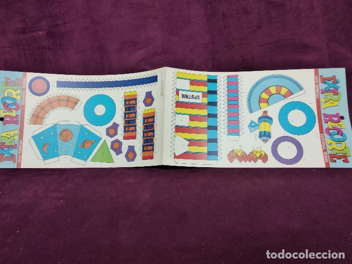 Coleccionismo Recortables: Pliego con recortables de transporte, Sputnik, Serie Espacial, Ed. Roma, 1973, unos 70 x 20 cms. - Foto 10 - 242059775