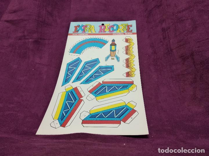 Coleccionismo Recortables: Pliego con recortables de transporte, Apolo XIII, Serie Espacial, Ed. Roma, 1973, unos 70 x 20 cms. - Foto 2 - 242059995