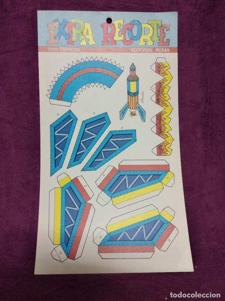 Coleccionismo Recortables: Pliego con recortables de transporte, Apolo XIII, Serie Espacial, Ed. Roma, 1973, unos 70 x 20 cms. - Foto 3 - 242059995