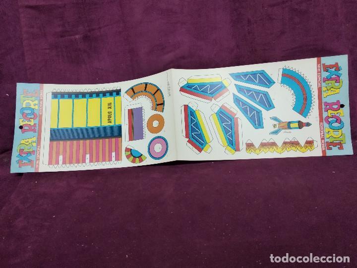 Coleccionismo Recortables: Pliego con recortables de transporte, Apolo XIII, Serie Espacial, Ed. Roma, 1973, unos 70 x 20 cms. - Foto 7 - 242059995