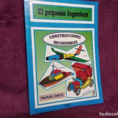 Coleccionismo Recortables: LIBRITO CON RECORTABLES DE TRANSPORTES, EL PEQUEÑO INGENIERO, COMPLETO, CUENTICOLOR, 30 X 23 CMS.. Lote 242091110