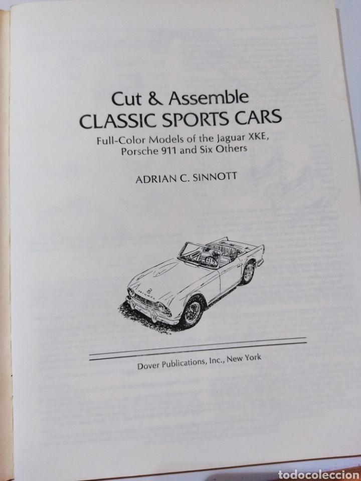 Coleccionismo Recortables: libro con 8 Recortables de clásicos coches americano Años 80. - Foto 3 - 242425220