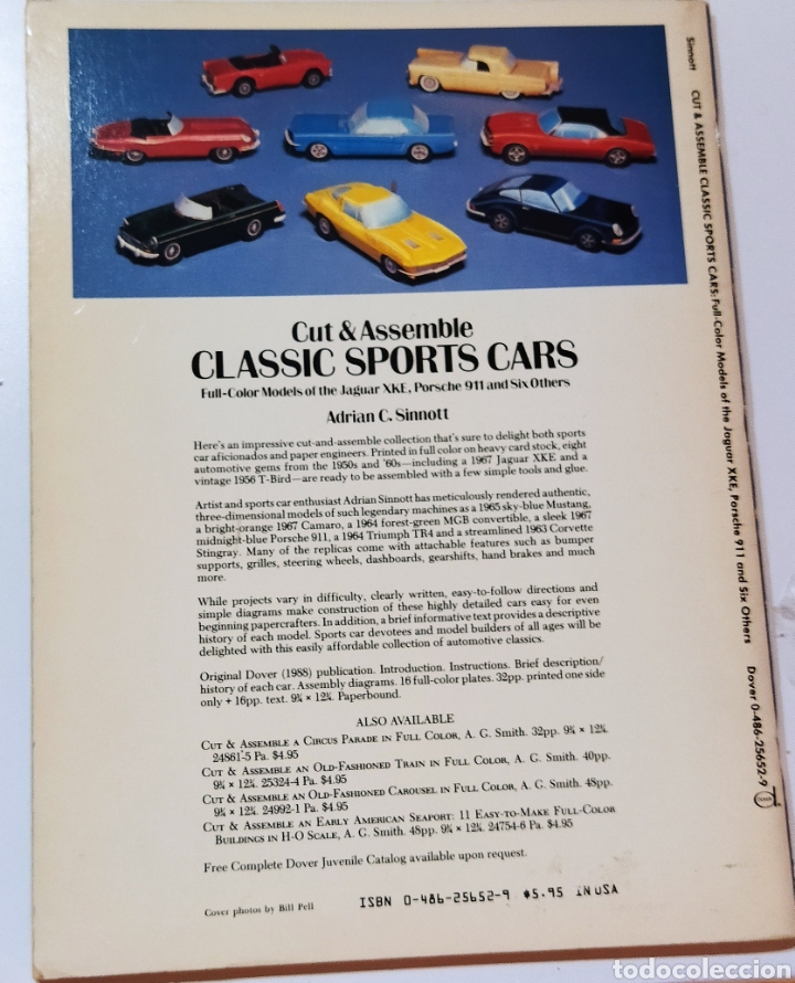 Coleccionismo Recortables: libro con 8 Recortables de clásicos coches americano Años 80. - Foto 5 - 242425220