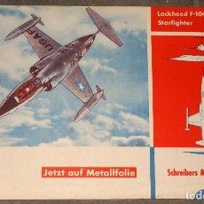 Coleccionismo Recortables: MAQUETA RECORTABLE AVION LOCKHEED F-104A STARFIHTER. Lote 243499995