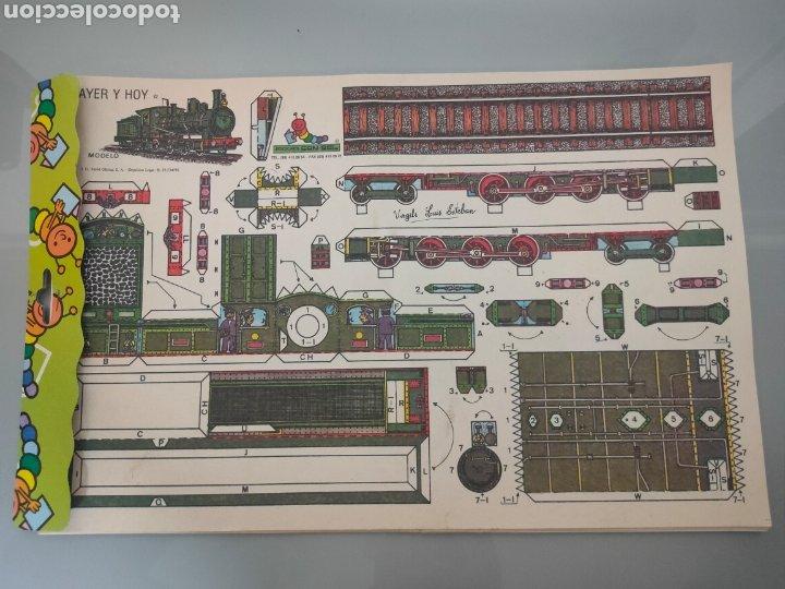 PACK 8X ANTIGUOS RECORTABLES EDICIONES CON-BEL TRENES Y AUTOBUSES 40X25CM (Coleccionismo - Recortables - Transportes)