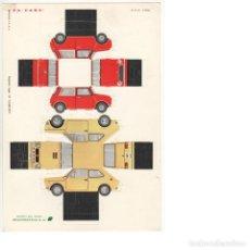 Coleccionismo Recortables: RECORTABLE TROQUELADO PA-CARS MINI Y SEAT 127. Lote 250218440
