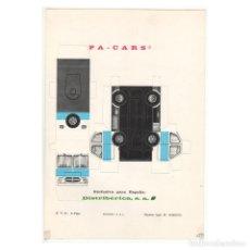 Coleccionismo Recortables: RECORTABLE TROQUELADO PA-CARS CAMIÓN PEGASO. Lote 250218945