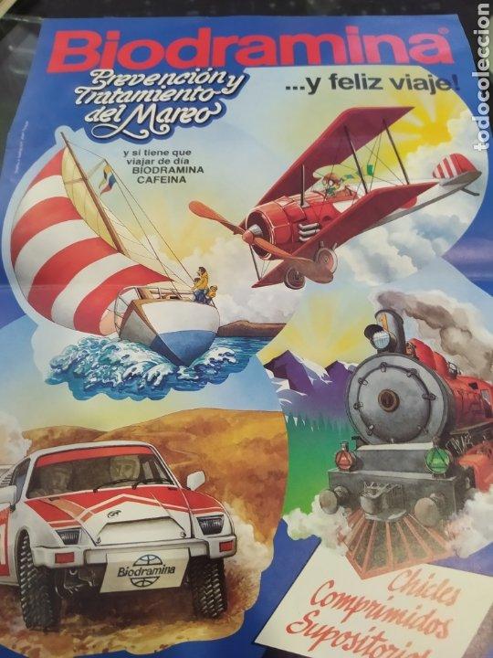 BIODRAMINA RECORTABLE AVIÓN AÑOS 80 (Coleccionismo - Recortables - Transportes)