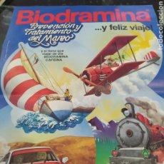 Coleccionismo Recortables: BIODRAMINA RECORTABLE AVIÓN AÑOS 80. Lote 261247740