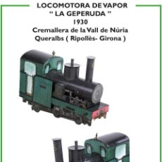 """Coleccionismo Recortables: MAQUETA RECORTABLE LOCOMOTORA DE VAPOR """" GEPERUDA """" (CREMALLERA VALL DE NURIA ). Lote 262812090"""