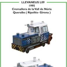Coleccionismo Recortables: MAQUETA RECORTABLE LOCOMOTORA QUITANIEVES L09 (CREMALLERA VALL DE NURIA ). Lote 262812265