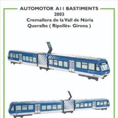 Coleccionismo Recortables: MAQUETA RECORTABLE LOCOMOTORA AUTOMOTOR A11 ARTICULADO (CREMALLERA VALL DE NURIA ). Lote 262812470