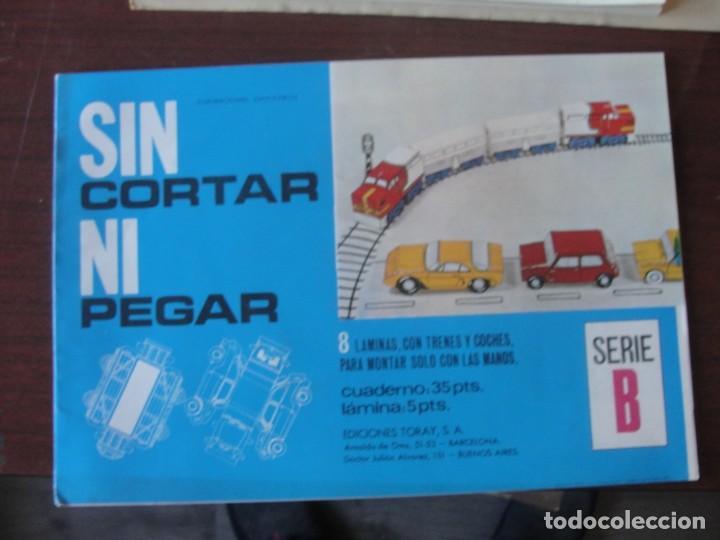 SIN CORTAR NI PEGAR - SERIE B / TRENES Y COCHES - TORAY 1970 - STOCK DE PAPELERIA (Coleccionismo - Recortables - Transportes)