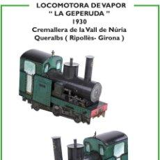 """Coleccionismo Recortables: MAQUETA RECORTABLE LOCOMOTORA DE VAPOR """" GEPERUDA """" (CREMALLERA VALL DE NURIA ). Lote 263774245"""