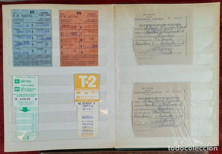 Coleccionismo Recortables: COLECCION DE 126 TITULOS DE TRANSPORTE. CAPICUA. VARIAS POSTALES. SIGLO XX. - Foto 10 - 266093223