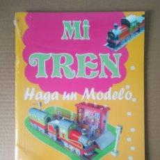 Coleccionismo Recortables: RECORTABLE MI TREN: HAGA UN MODELO (EDIVAS, 2006). PRECINTADO. 54 PIEZAS. GRAN FORMATO.. Lote 270524503