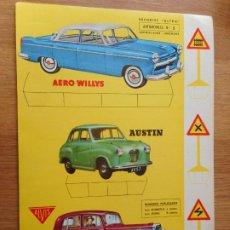 Coleccionismo Recortables: RECORTES ULTRA.AUTOMOVILES Nº 5.EDITORIAL ROMA.BARCELONA.AERO WILLYS.AUSTIN.ALVIS 1961. Lote 283627033