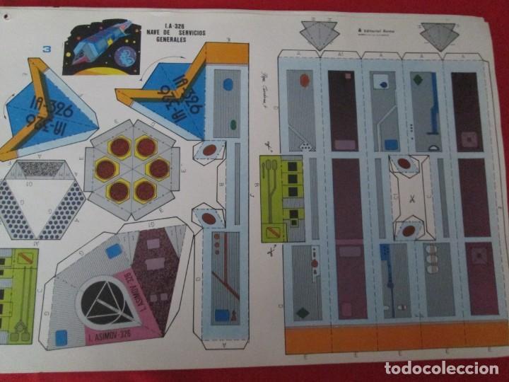 VEHICULOS ESPACIALES EDITORIAL ROMA NAVE DE SERVICIOS GENERALES (Coleccionismo - Recortables - Transportes)