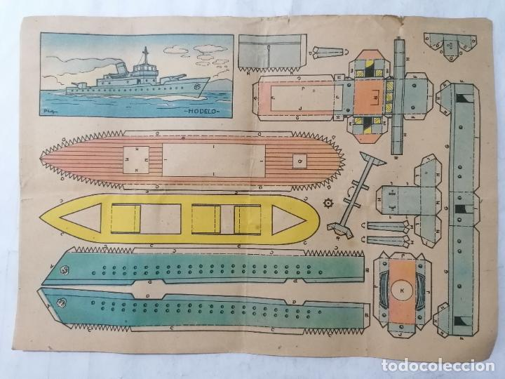 RECORTABLE BRUGUERA, MODELO PLA, MEDIDAS 29 X 20 CM (Coleccionismo - Recortables - Transportes)