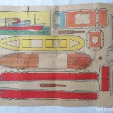Coleccionismo Recortables: RECORTABLE BRUGUERA, MODELO PLA, MEDIDAS 29 X 20 CM. Lote 286989253