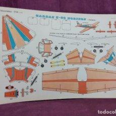 Coleccionismo Recortables: HOJA CON RECORTABLE DE VEHÍCULOS, GARDAN G80 HORIZON, RECORTABLES EVA, 1965, UNOS 45 X 30 CMS.. Lote 287741193