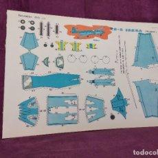 Coleccionismo Recortables: HOJA CON RECORTABLE DE VEHÍCULOS, TS2 ISKRA, RECORTABLES EVA, 1965, UNOS 45 X 30 CMS.. Lote 287741463
