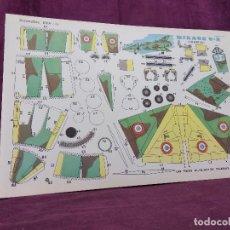 Coleccionismo Recortables: HOJA CON RECORTABLE DE VEHÍCULOS, MIRAGE 3R, RECORTABLES EVA, 1965, UNOS 45 X 30 CMS.. Lote 287741618