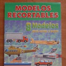 Coleccionismo Recortables: RECORTABLES : OCHO MODELOS TRANSPORTES - PACK COMPLETO. Lote 293424583