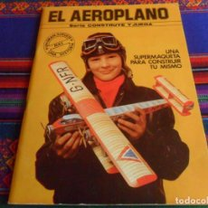 Coleccionismo Recortables: SERIE CONSTRUYE Y JUEGA EL AEROPLANO. EDAF 1982. BUEN ESTADO Y DIFÍCIL.. Lote 293944283