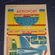 Coleccionismo Recortables: (M) RECORTABLE AVIÓN AEROPORT - EDITIONS BIAS, PARIS N.5 AÑOS 50 - BUEN ESTADO. Lote 296797158