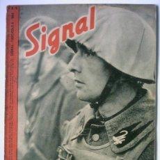 Coleccionismo de Revista Blanco y Negro: SIGNAL GERMAN MAGAZINE - REVISTA ALEMANA Nº 6 1944 ED. -I-. ITALIANA PORTADAS DIFERENTES RARO. Lote 27625080