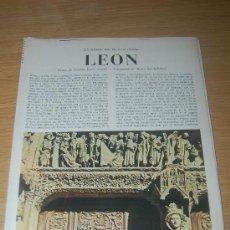 Coleccionismo de Revista Blanco y Negro: LEÓN. PRECIOSO REPORTAJE GRÁFICO DE FINALES DE LOS AÑOS 60 SOBRE ESTA CIUDAD ESPAÑOLA. Lote 27504661