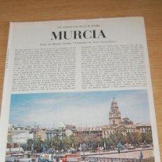 Coleccionismo de Revista Blanco y Negro: MURCIA : PRECIOSO REPORTAJE GRÁFICO DE FINALES DE LOS AÑOS 60. Lote 27414863