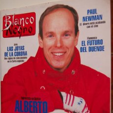 Coleccionismo de Revista Blanco y Negro: ALBERTO DE MÓNACO, MIGUEL INDURÁIN, GEENA DAVIS, PRESUNTOS IMPLICADOS, ANA BOTELLA, PAUL NEWMAN. Lote 18358211