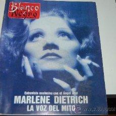 Coleccionismo de Revista Blanco y Negro: MARLENE DIETRICH. ENTREVISTA Y REPORTAJE GRÁFICO. Lote 20785488