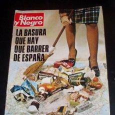 Coleccionismo de Revista Blanco y Negro: BLANCO Y NEGRO -Nº 3322- 3 ENERO 1976 - LA BASURA QUE HAY QUE BARRER EN ESPAÑA. Lote 26172442