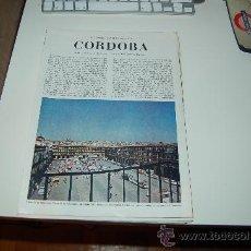 Coleccionismo de Revista Blanco y Negro: CÓRDOBA: PRECIOSO REPORTAJE GRÁFICO DE LOS AÑOS 60. Lote 27036602