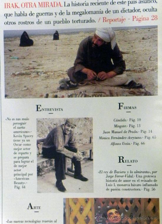 Coleccionismo de Revista Blanco y Negro: REVISTA BLANCO Y NEGRO Nº 4206 FEBRERO 2000 - NAJWA NIMRI - KEVIN SPACEY - CINE TOROS CORROCHANO - Foto 2 - 261989780