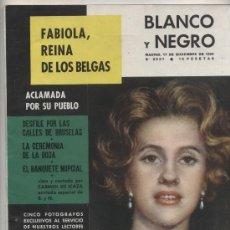Coleccionismo de Revista Blanco y Negro: BLANCO Y NEGRO Nº 2537. FABIOLA REINA DE LOS BELGAS. 17 DICIEMBRE DE 1960.. Lote 24596795