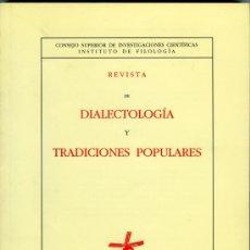 Coleccionismo de Revista Blanco y Negro: REVISTA DE DIALECTOLOGÍA Y TRADICIONES POPULARES. TOMO XLVIII, 1993. Lote 31308492