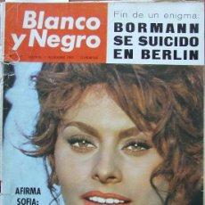 Coleccionismo de Revista Blanco y Negro: SOPHIA SOFIA LOREN – CHARLES CHAPLIN CHARLOT - REVISTA BLANCO Y NEGRO 2797 DICIEMBRE 1965. Lote 130280287
