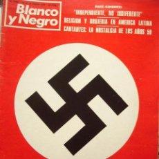 Coleccionismo de Revista Blanco y Negro: REVISTA BLANCO Y NEGRO. ENE-1979. NAZIS EN ESPAÑA - CANTANTES DE LOS AÑOS 50.. Lote 276552303